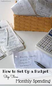 How to Set Up a Budget…Monthly Spending Budget