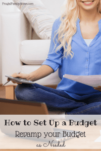 Revamp Your Budget As Needed