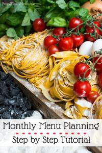 Monthly Menu Planning Part 2