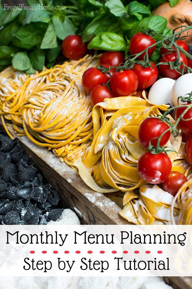 If you want to start monthly menu planning but just don't know where to start this tutorial is really helpful. It will walk you through each step of the menu planning process. I love only having to make a menu plan once a month instead of making a menu plan each week.
