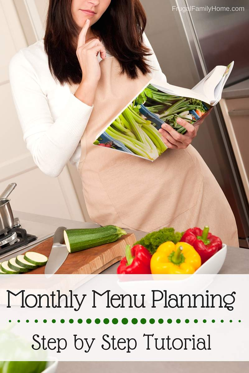 What a great tutorial on getting started with making a menu plan for a month. It was really helpful for me. If you want to get started with planning a menu just once a month this will really help.