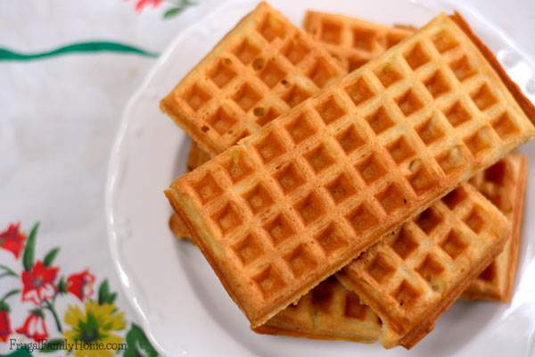 Make your own waffles at home. All you need is a waffle iron and this recipe.