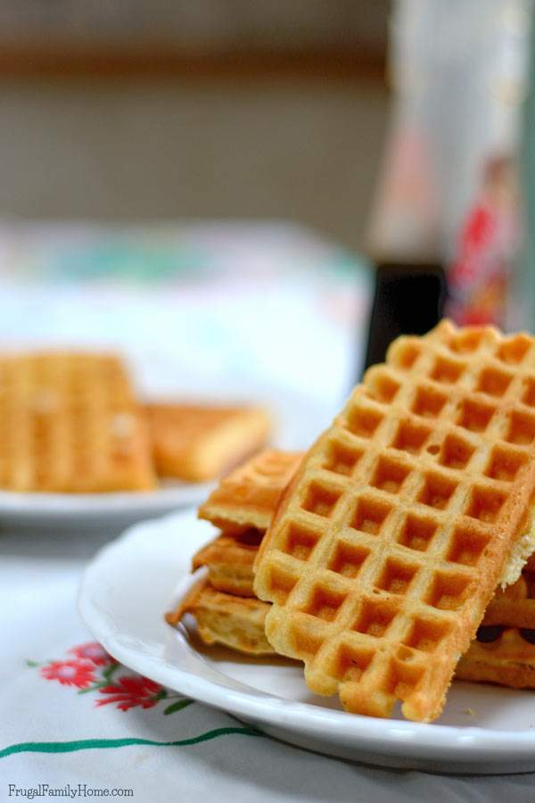 Light and Fluffy Waffles are easy to make with this recipe. It does take a few steps but the waffles are so worth it.