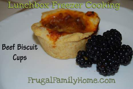 Lunchbox Freezer Cooking, Beef Biscuit Cups (Day 3)
