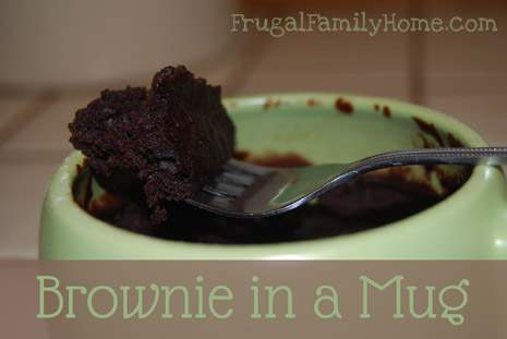 Recipe for Brownie in a Mug