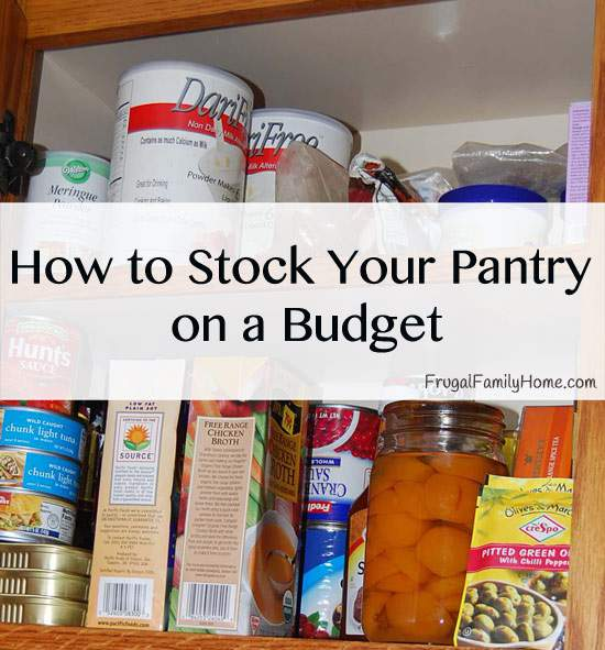 Building a Pantry