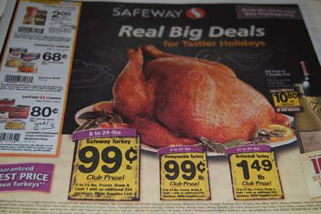 Safeway Thanksgiving Sale