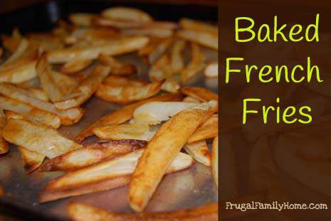 Baked French Fries Banner