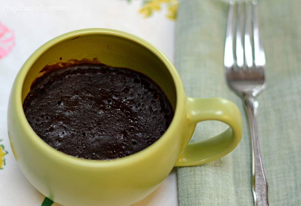 Dairy free single serving brownie in a mug recipe for those times when you need a quick chocolate fix.
