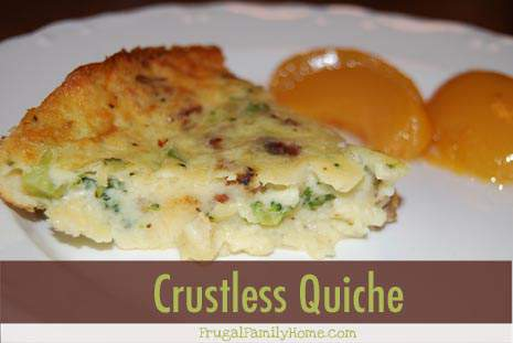 Simple Meals: Crustless Quiche