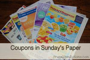 Sunday Paper Coupons