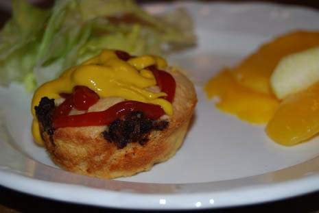 Cheeseburger Muffins Served