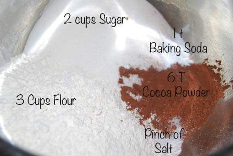 Wacky Cake Ingredients