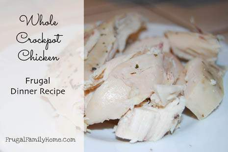 4 Weeks of Frugal Recipes Day Eleven…Roasted Whole Chicken