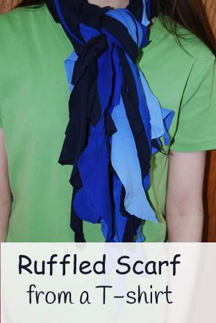 Recycled Craft, Ruffled Scarf