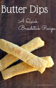 Butter Dip Breadsticks
