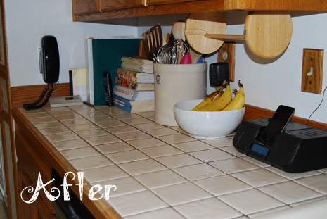 Kitchen Counter with Bananas After