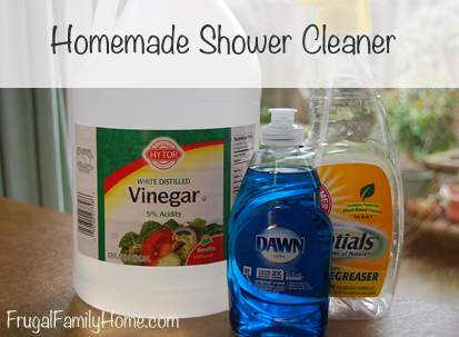 Homemade Shower Cleaner Recipe Frugal Family Home