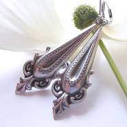 Silver Ornate Drop Earrings
