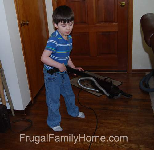Son Vacuuming