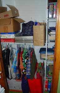 Son's closet After