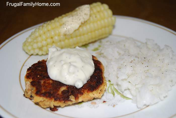 Salmon Patty on Plate