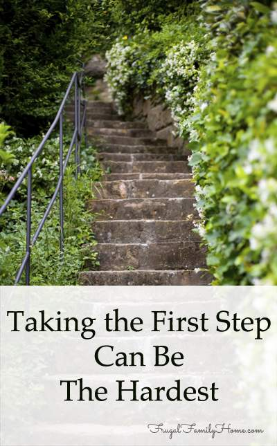 Taking the first step is hard