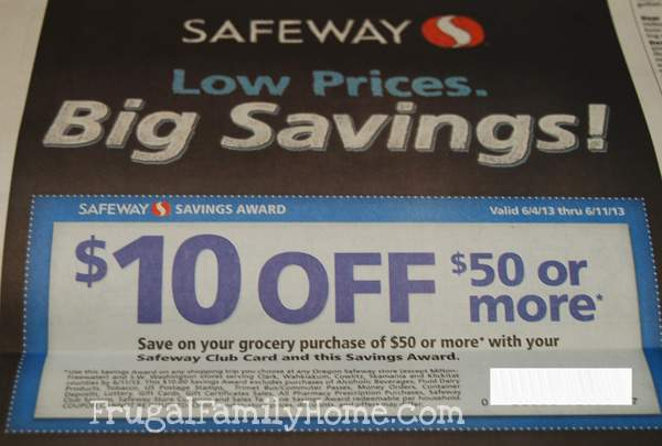 Safeway Savings Coupon