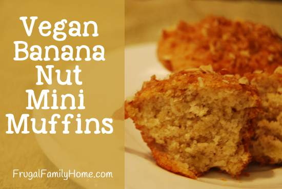 Vegan Mini Banana Nut Muffins