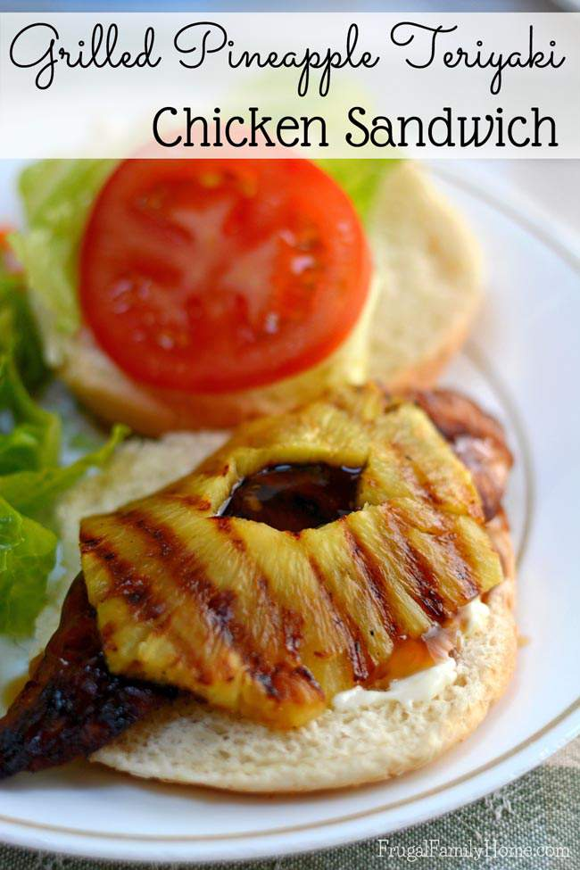 Looking for a new way to enjoy teriyaki chicken? This grilled pineapple teriyaki chicken sandwich recipe makes a great lunch or dinner, right off the grill. Perfect for those hot summer days when it's too hot to cook indoors.