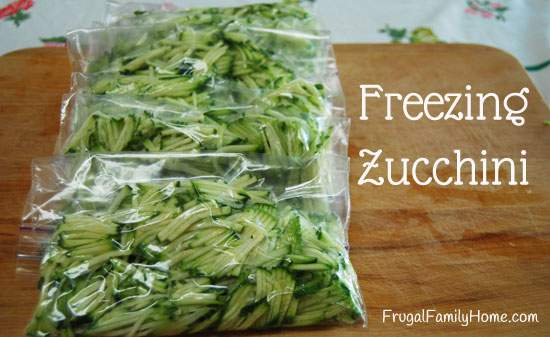 Zucchini for Freezer