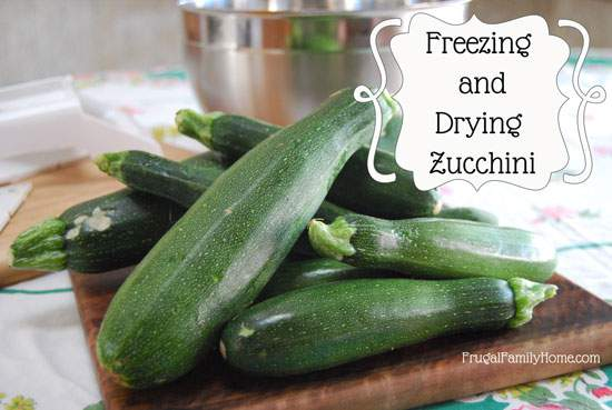 Freezing and Dehydrating Zucchini
