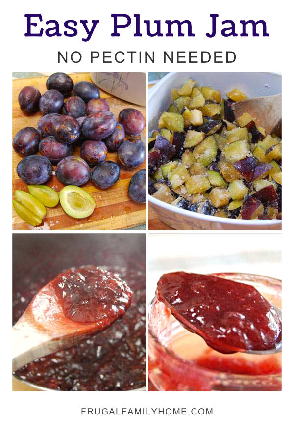 4 step photos in this homemade plum jam