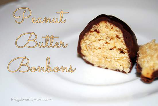Homemade Sweet Treats, Peanut Butter Bonbons