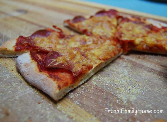 Up close picture of Pizza
