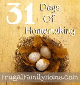 31 Days of Homemaking Helps