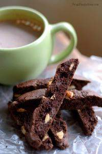 These nice crisp cookies really stand up to dipping in hot chocolate without getting soggy.