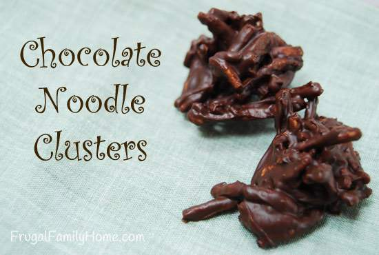 Homemade Sweet Treats, Chocolate Noodle Clusters
