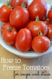 If you have a bunch of tomatoes from your garden and you don't have time to dry or can them, why not freeze them? Did you know you can freeze tomatoes whole? No need to slice, dice or even peel them. It's super easy to do and they work great in sauces, soups, stews, and chili.