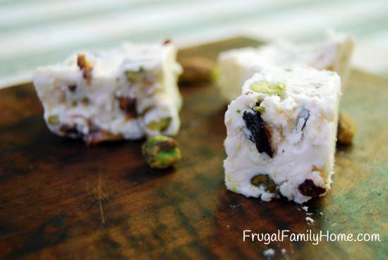Homemade Sweet Treats, Cherry Pistachio Fudge
