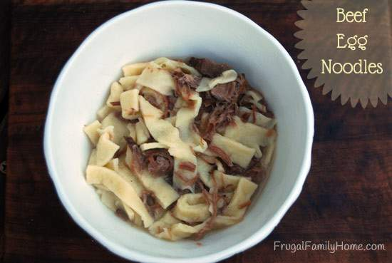 Comfort Food Beef Noodles