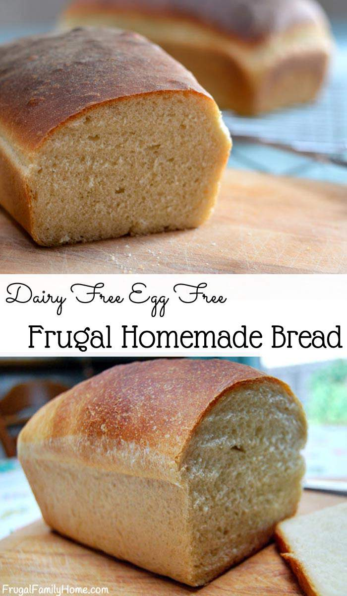 Make your own bread at home with this frugal bread recipe that is easy to make and cost less than $.50 a loaf.