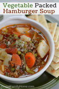 Frugal and Hearty Hamburger Soup (only $.50 a Serving)
