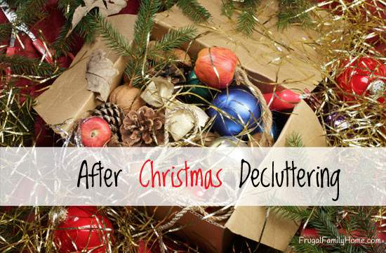 Is your home just a little cluttered from all the great stuff that came into your house over Christmas? If it is why not do a little decluttering to get ready for the new year. Here's a few things I do each year to help clear out the house and make it more livable.