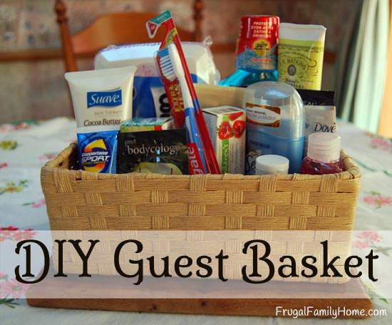 DIY Guest Basket