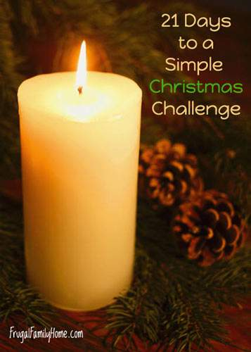 21 Days to a Simple Christmas Challenge, Days 19 and 20