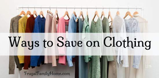 How to Save Money on Clothing