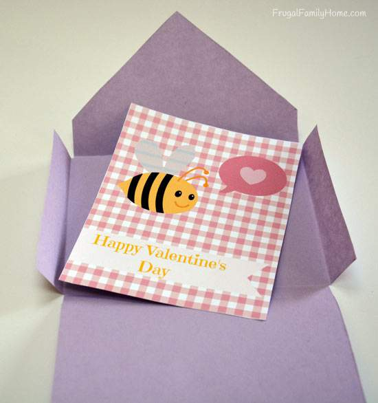 Valentine's Day Card with Envelope Template