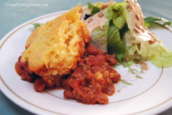Easy Dinner Recipe, Chili Cornbread