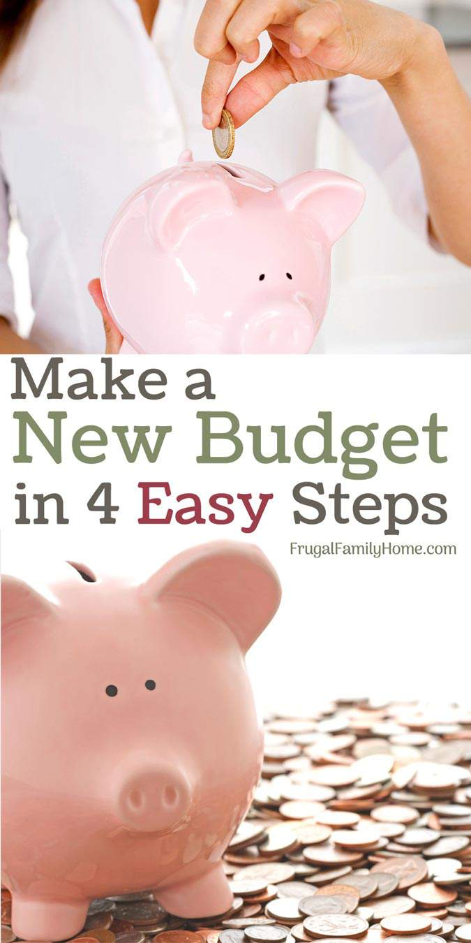 4 easy steps to set up a budget for the new year or any time of year.